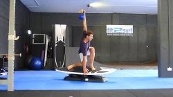 Surf Training - Backhand barrel windmill w 16kg kettlebell.  Pig dog